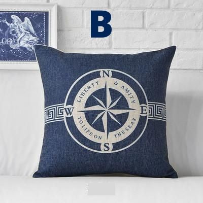 Mediterranean Sea Blue Pillow/Cushion Cover