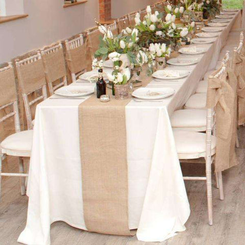 Rustic Burlap Table Runner - Event Supply Shop