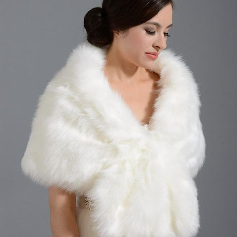 Luxury Faux Fur Shawl - Event Supply Shop