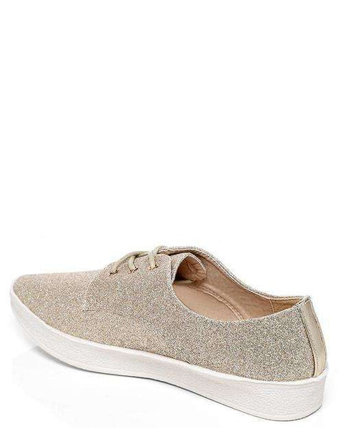 Gold Glitter Tennis Shoes - Event Supply Shop