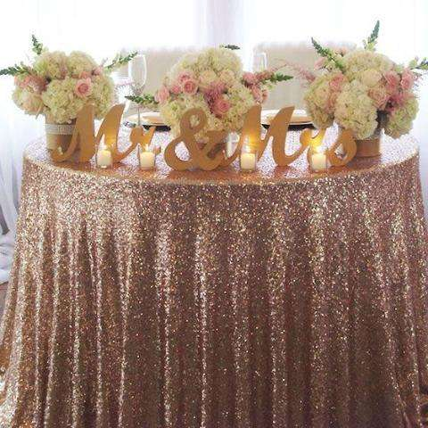 Brilliance Rose Gold Sequin Fabric - Event Supply Shop