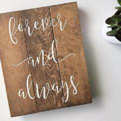 Forever and Always Handlettered Sign, Forever and - Event Supply Shop
