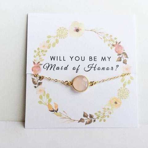 Will you Be My? Floral Reef Rose Quartz Gift - Event Supply Shop