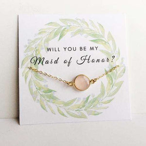 Will you Be My? Green Reef Rose Quartz Gift - Event Supply Shop
