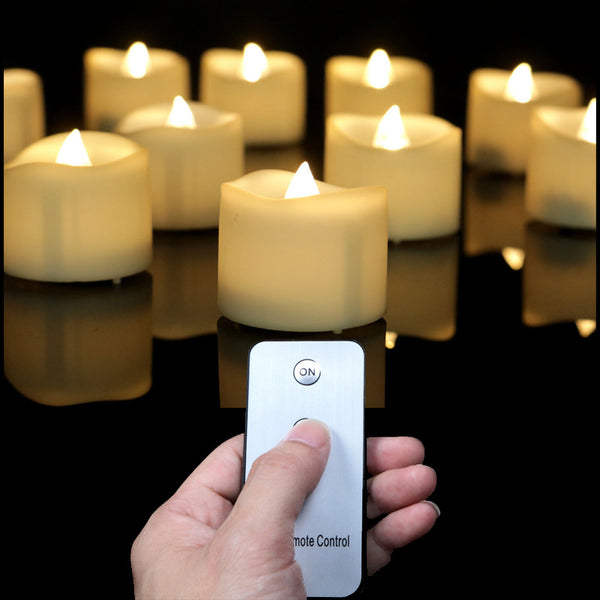 LED Votive Candles With Remote