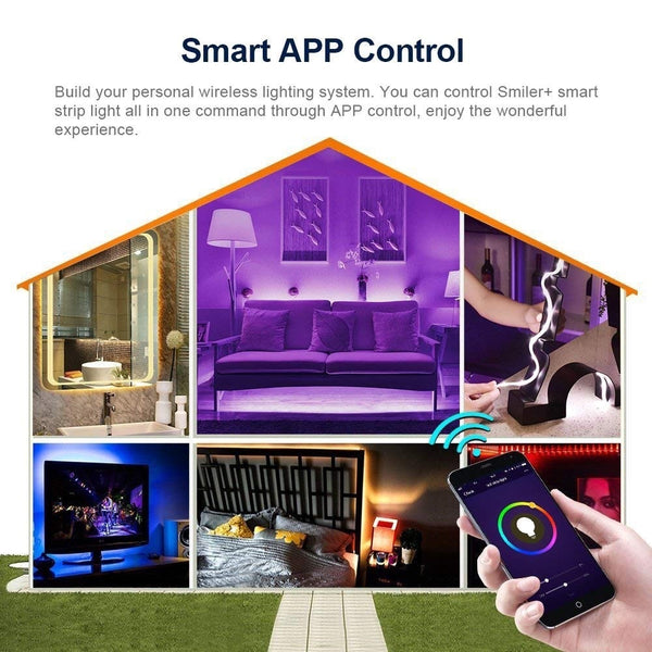 LED Strip Lights - Phone Control with WiFi - Compatible with Amazon Alexa & Google Home IFTTT