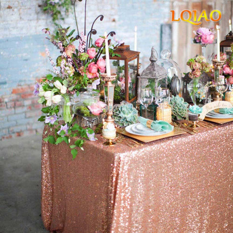 Rose Gold Sequin Tablecloth