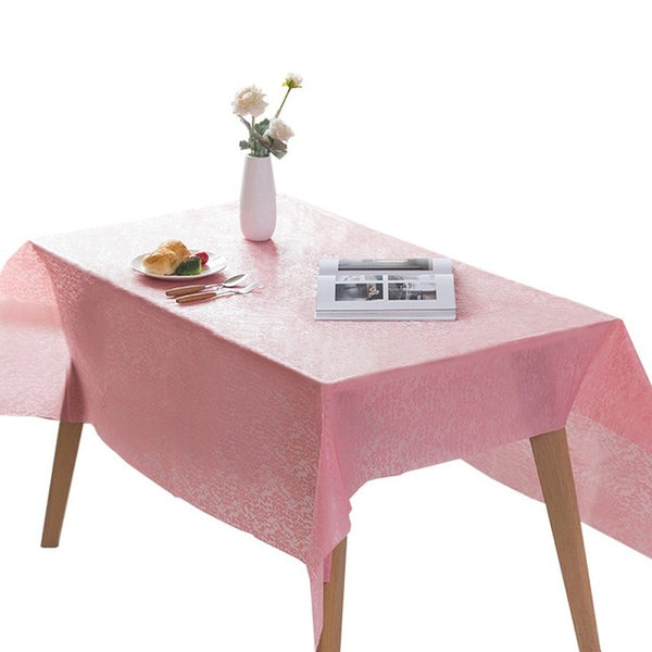Disposable Tablecloth Pink White