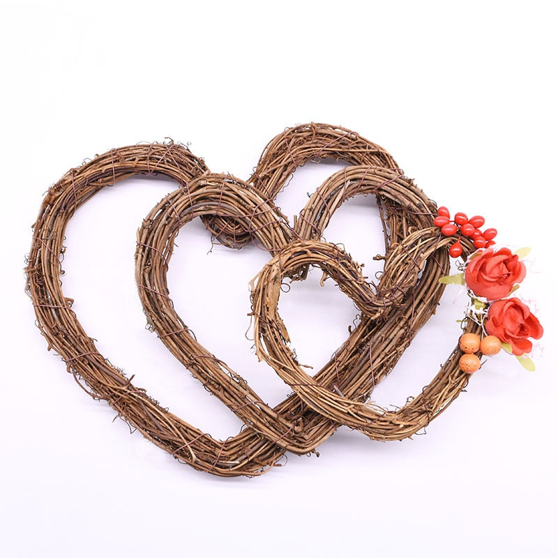Heart Shaped Wreath Hanging Decoration for Wedding