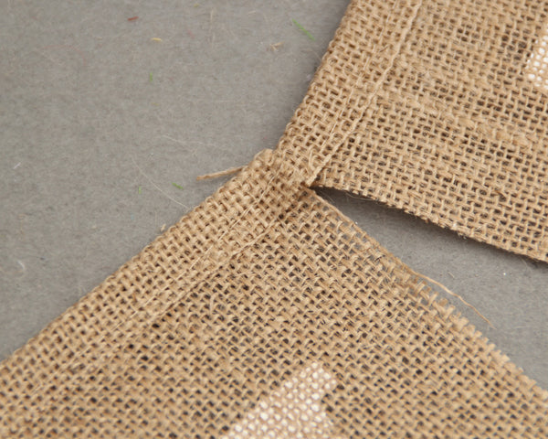 Just Married Burlap Bunting for Rustic Wedding