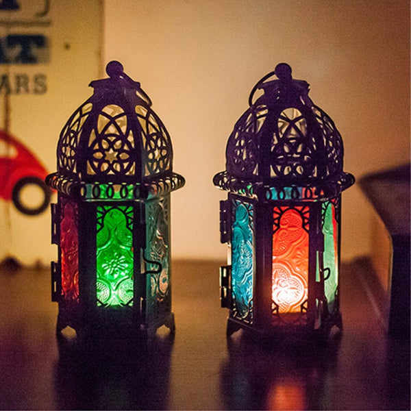 Metal European Lanterns Black, White