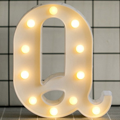 Luminous LED Light Letter