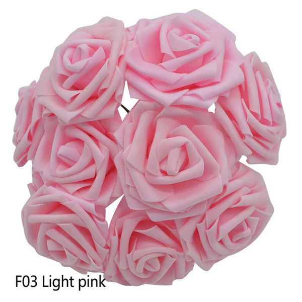 Colorful Artificial Roses for Home or Wedding Decor