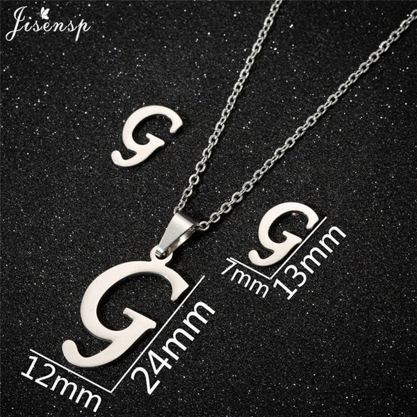 Stainless Steel Initial Letters Necklace for Her