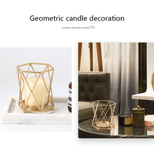Geometric Candle Holders for Home Decoration