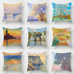 Claude Monet Printing Cushion Cover