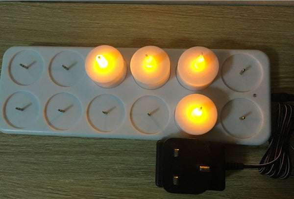 12/6 Rechargeable Flameless LED Tea Candle Light