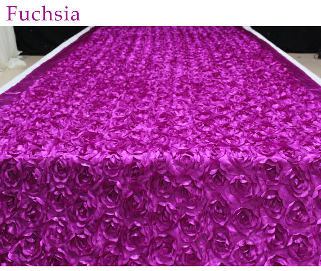 Satin Flower Aisle Runner - Event Supply Shop