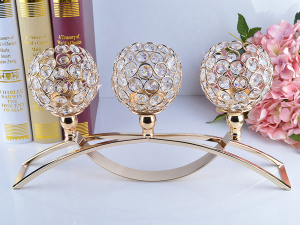 Handmade Crystal Gold Votive Candle Holder - Event Supply Shop