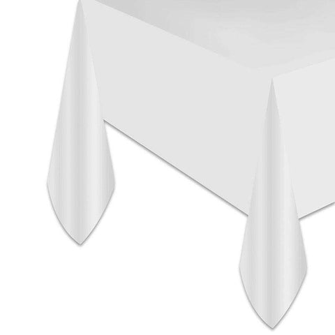 White Disposable Tablecloth - Event Supply Shop