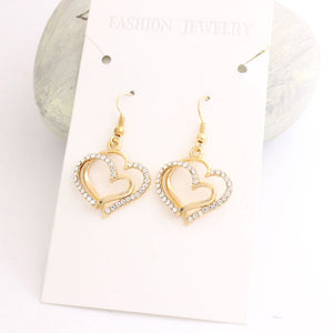 Heart Necklace and Earrings Set - Event Supply Shop