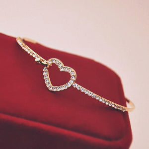 Heart Bangle Bracelet Jewelry - Event Supply Shop
