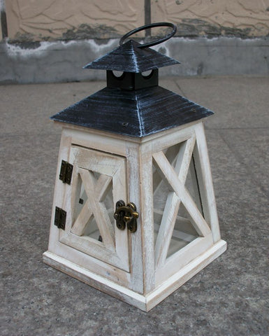 Iron Hanging Glass Lantern