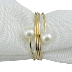 10 Pearl Napkin Rings - Event Supply Shop