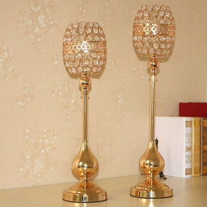Gold Wedding Candle Holder Centerpiece