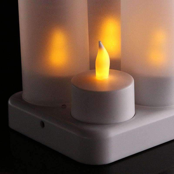 12 Rechargeable Flameless LED Tea Candle Light - Event Supply Shop