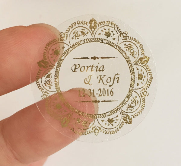Wedding Personalized Clear Envelope Sticker