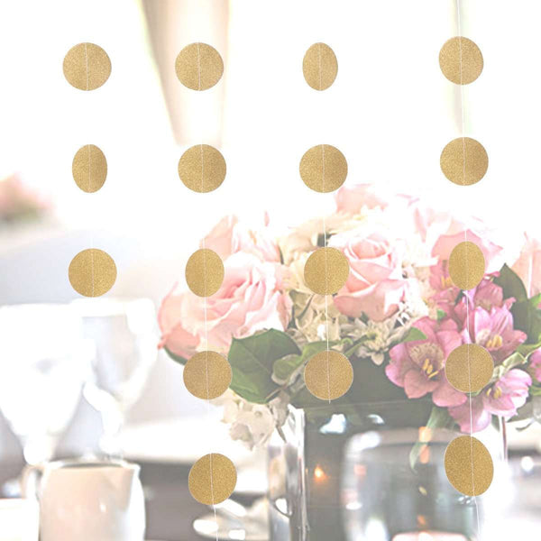 Gold Polka Dot Backdrop Hanging Decorations (multiple colors)