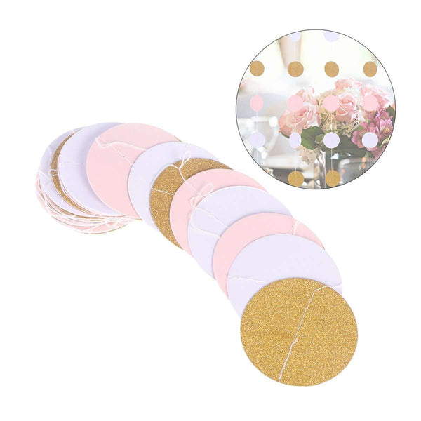 Gold Polka Dot Backdrop Hanging Decorations (multiple colors) - Event Supply Shop