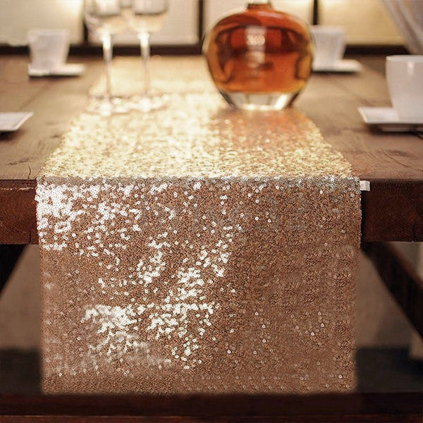 Brilliance Sequin Table Runner Gold, Silver, Rose Gold - Event Supply Shop