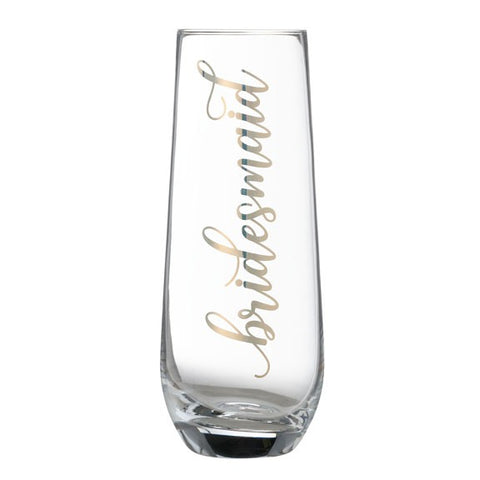 """Bridesmaid"" Stemless Champagne Glass"