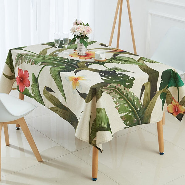 Tropical Plants Printed Tablecloths