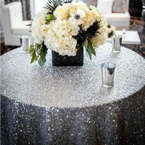 Sparkly Glitz Sequin Glamorous Tablecloth