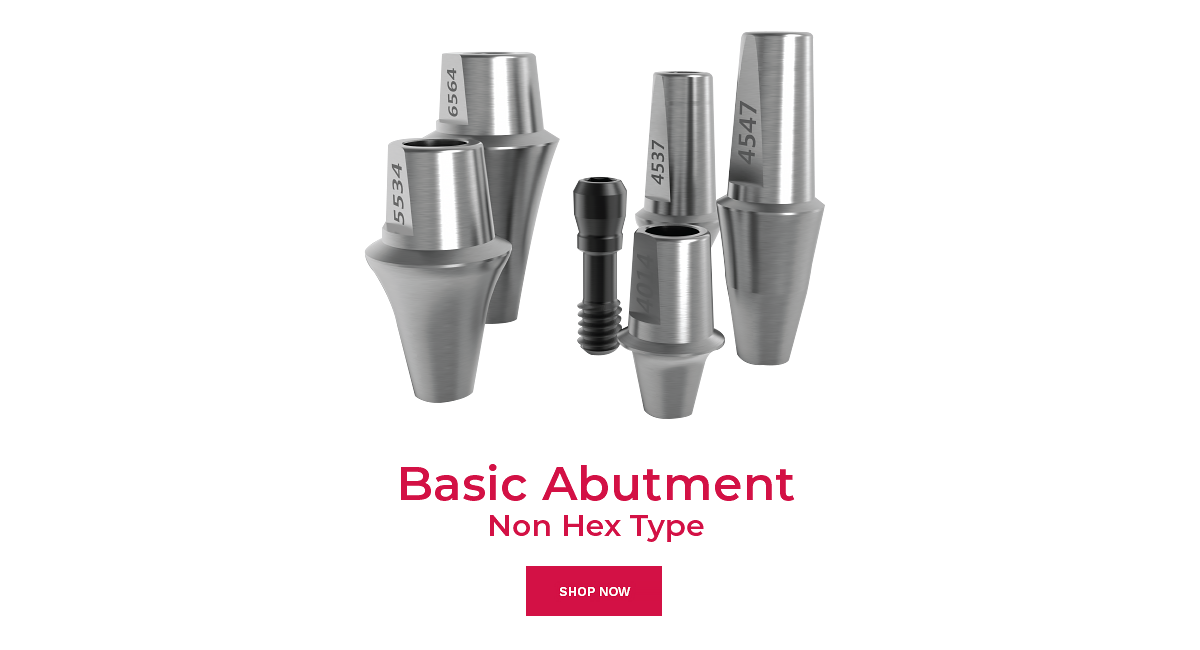 shop basic abutment non hex type