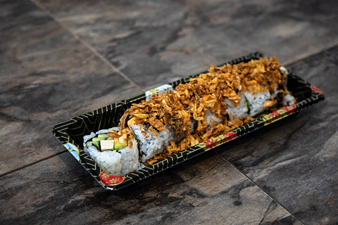 Crunchy Chicken Roll (Chicken, Avocado, Cucumber, Fried Onion)