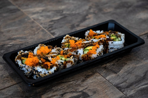 Veggie Uramaki (Avocado, Cucumber, Carrot, Sesame Seeds, Rice, Nori)