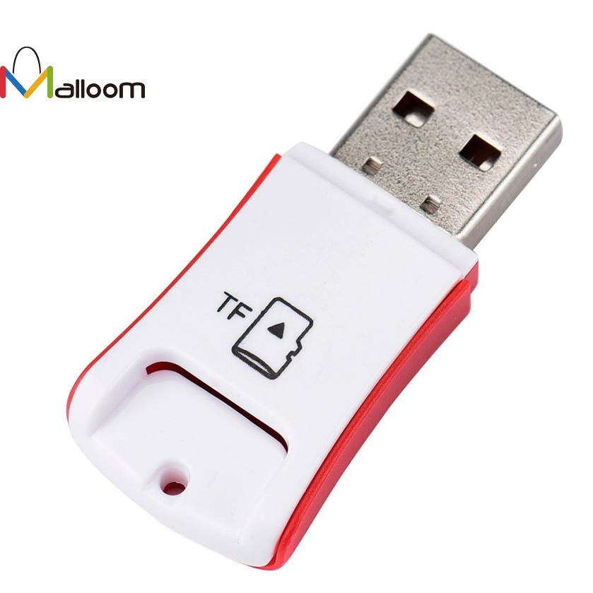 2017 Red Computer Accessories  Fashion  High Speed Mini Computer Speakers USB 2.0 Micro SD TF T-Flash Memory Card Reader Adapter