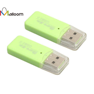 Mini High Speed Free Shipping  Card Reader USB 2.0 Micro SD TF T-Flash Memory Card Reader Adapter#40