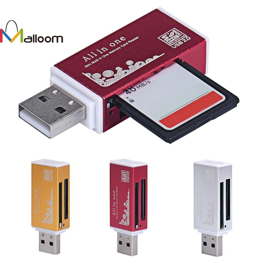 2017 Fashion PC Accessories Super Speed USB 2.0 All In 1 Multi Memory Card Reader Free Shipping Gift Sale