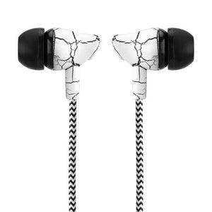 FORNORM Braided Crack Earphone Cloth Rope Earpieces With Micrphone Stereo Bass MP3 Music Headset For Smartphone MP3 MP4 Player