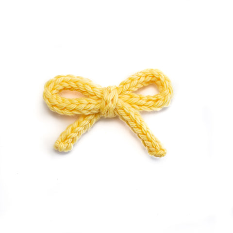 Hand-tied Crochet Bow - Daffodil Yellow