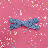Color Changing Knitted Bows - Blue