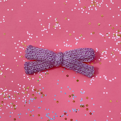 Color Changing Knitted Bows - Purple