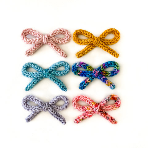 Hand-tied Crochet Bows - All Colorways