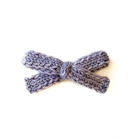 Moonstone - Knitted Bow