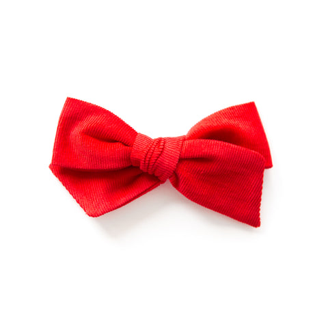 Rosie - Red Corduroy Bow